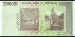 Zimbabwe - p81 - 200.000.000 Dollars - 2008 - Reserve Bank of Zimbabwe