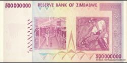 Zimbabwe - p82 - 500.000.000 Dollars - 2008 - Reserve Bank of Zimbabwe