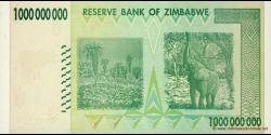 Zimbabwe - p83 - 1.000.000.000 Dollars - 2008 - Reserve Bank of Zimbabwe