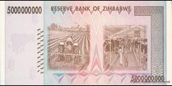 Zimbabwe - p84 - 5.000.000.000 Dollars - 2008 - Reserve Bank of Zimbabwe