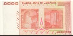 Zimbabwe - p87 - 50.000.000.000 Dollars - 2008 - Reserve Bank of Zimbabwe