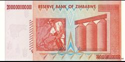 Zimbabwe - p89 - 20.000.000.000.000 Dollars - 2008 - Reserve Bank of Zimbabwe