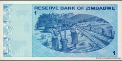 Zimbabwe - p92 - 1 Dollar - 2009 - Reserve Bank of Zimbabwe