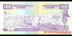 Burundi - p37b - 100 Francs - 01.12.1997 - Banque de la République du Burundi / Ibanki ya Republika y'Uburundi