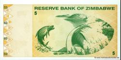 Zimbabwe - p93 - 5 Dollars - 2009 - Reserve Bank of Zimbabwe