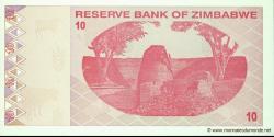 Zimbabwe - p94 - 10 Dollars - 2009 - Reserve Bank of Zimbabwe