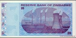 Zimbabwe - p95 - 20 Dollars - 2009 - Reserve Bank of Zimbabwe