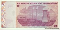 Zimbabwe - p96 - 50 Dollars - 2009 - Reserve Bank of Zimbabwe