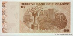 Zimbabwe - p97 - 100 Dollars - 2009 - Reserve Bank of Zimbabwe