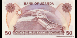 Ouganda - p20 - 50 Shillings - ND (1985) - Bank of Uganda