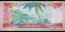 Antigua - p17a - 1 Dollar - ND (1985 - 1988) - Eastern Caribbean Central Bank