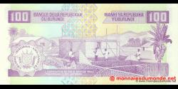 Burundi - p37f - 100 Francs - 01.10.2007 - Banque de la République du Burundi / Ibanki ya Republika y'Uburundi