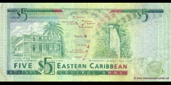 Antigua - p26a - 5 Dollars - ND (1993) - Eastern Caribbean Central Bank