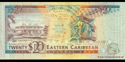Antigua - p28a - 20 Dollars - ND (1993) - Eastern Caribbean Central Bank