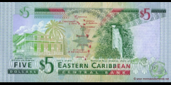 Antigua - p42a - 5 Dollars - ND (2003) - Eastern Caribbean Central Bank