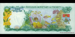 Bahamas - p27 - 1 Dollar - L. 1968 - Bahamas Monetary Authority