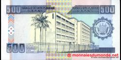Burundi - p45a - 500 Francs - 01.05.2009 - Banque de la République du Burundi / Ibanki ya Republika y'Uburundi