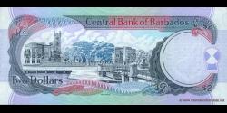 Barbade - p60 - 2 Dollars - ND (2000) - Central Bank of Barbados