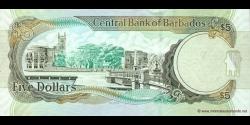 Barbade - p67a - 5 Dollars - 01.05.2007 - Central Bank of Barbados