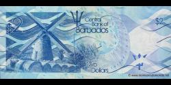 Barbade - p73 - 2 Dollars - 02.05.2013 - Central Bank of Barbados