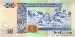 Belize - p66c - 2 Dollars - 01.09.2007 - Central Bank of Belize