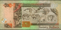 Belize - p69b - 20 Dollars - 01.01.2005 - Central Bank of Belize