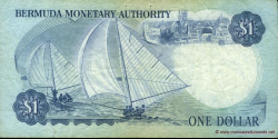 Bermudes - p28c - 1 Dollar - 01.01.1986 - Bermuda Monetary Authority