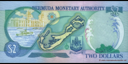 Bermudes - p50a - 2 Dollas - 24.05.2000 - Bermuda Monetary Authority