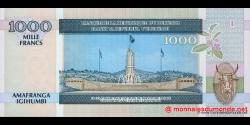 Burundi - p39d - 1000 Francs - 01.05.2006 - Banque de la République du Burundi / Ibanki ya Republika y'Uburundi