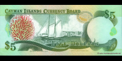 Caïmans - p12 - 5 Dollars - 1991 - Cayman Islands Currency Board