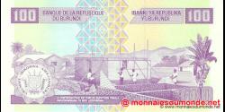 Burundi - p44a - 100 Francs - 01.05.2010 - Banque de la République du Burundi / Ibanki ya Republika y'Uburundi