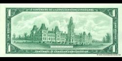 Canada - p084b - 1 Dollar - 1967 - Bank of Canada / Banque du Canada