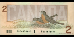 Canada - p094b - 2 Dollars - 1986 - Bank of Canada / Banque du Canada