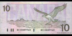 Canada - p096b - 10 Dollars - 1989 - Bank of Canada / Banque du Canada