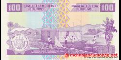 Burundi - p44b - 100 Francs - 01.09.2011 - Banque de la République du Burundi / Ibanki ya Republika y'Uburundi