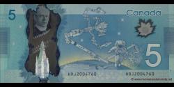 Canada - p106a - 5 Dollars - 2013 - Bank of Canada / Banque du Canada