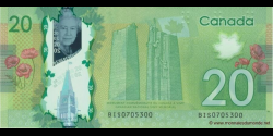 Canada - p108 - 20 Dollars - 2012 - Bank of Canada / Banque du Canada