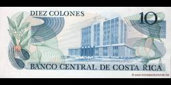 Costa - Rica - p237b - 10 Colones - 18.02.1987 - Banco Central de Costa Rica