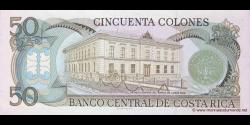 Costa - Rica - p253b - 50 Colones - 26.04.1988 - Banco Central de Costa Rica