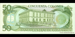 Costa - Rica - p257a - 50 Colones - 07.07.1993 - Banco Central de Costa Rica
