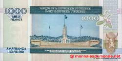 Burundi - p46 - 1 000 Francs - 01.05.2009 - Banque de la République du Burundi / Ibanki ya Republika y'Uburundi
