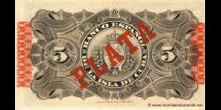 Cuba - p048b - 5 Pesos - 15.05.1896 - Banco Español de la Isla de Cuba