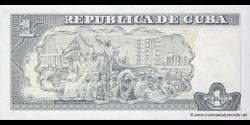 Cuba - p128e - 1 Peso - 2010 - Banco Central de Cuba