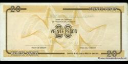Cuba - pFX36 - 20 Pesos - ND (1991) - Banco Nacional de Cuba