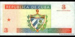 Cuba - pFX38 - 3 Pesos Convertibles - 1994 - Banco Nacional de Cuba