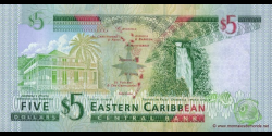 La Dominica - p42d - 5 Dollars - ND (2003) - Eastern Caribbean Central Bank