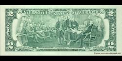 Etats Unis d'Amérique - p497 - 2 Dollars - 1995 - Federal Reserve System
