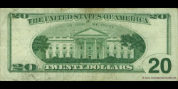 Etats Unis d'Amérique - p501 - 20 Dollars - 1996 - Federal Reserve System