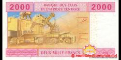 Cameroun - P208U - 2 000 Francs - 2002 - Banque des États de l'Afrique Centrale