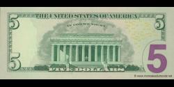 Etats Unis d'Amérique - p531 - 5 Dollars - 2009 - Federal Reserve System